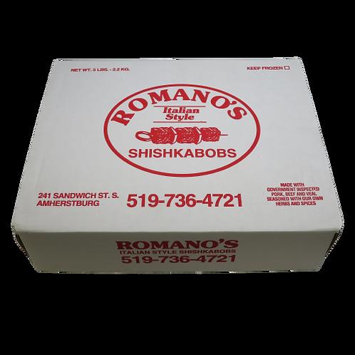 Romano's Frozen Pork Shishkabobs