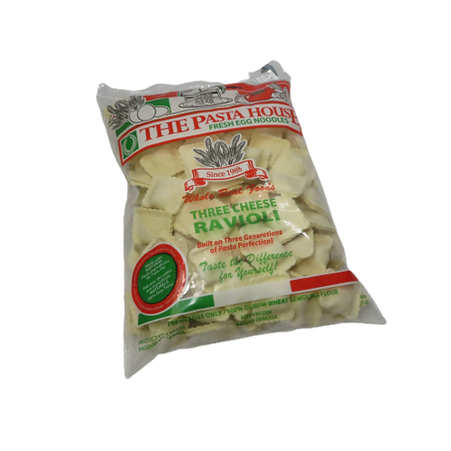 The Pasta House: Fresh Egg Noodle – Three Cheese Ravioli