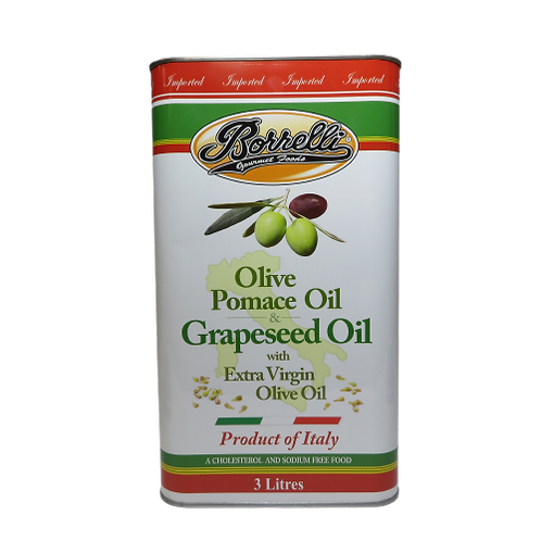 Borelli Olive Pomace Oil & Grapeseed Oil with Extra Virgin Olive Oil