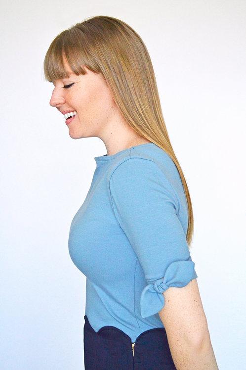 Dahlia Tee - Blue