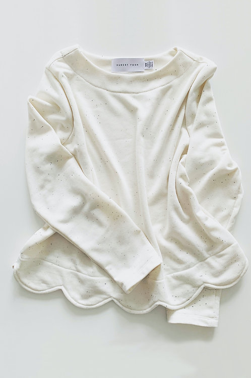 Aria Sweatshirt - Cream Speckle