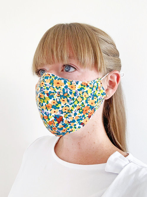 Reversible Face Mask - Peach Floral