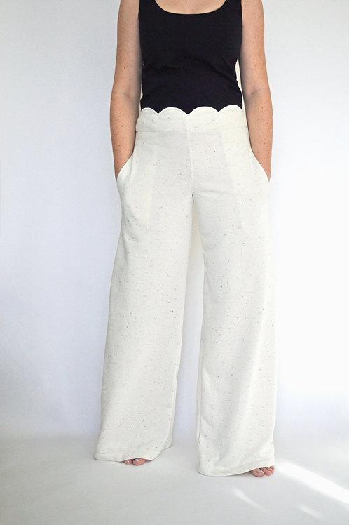 Aria Lounge Pant - Cream Speckle