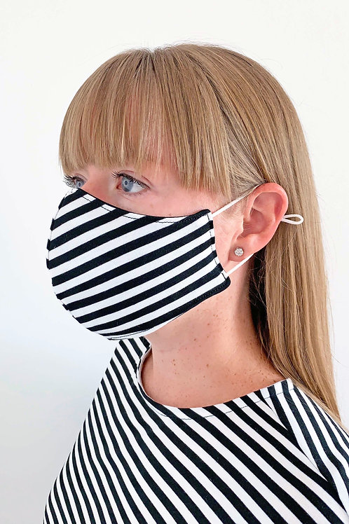 Reversible Face Mask - Striped Jersey