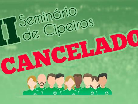 II Seminário de Cipeiros Cancelado