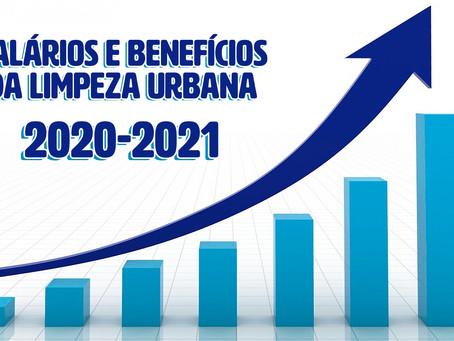Novos salários e benefícios da Limpeza Urbana 2020/2021
