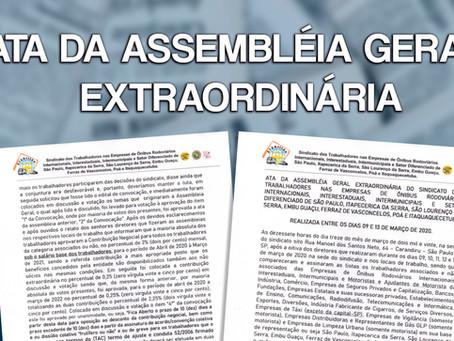 ATA DA ASSEMBLÉIA GERAL EXTRAORDINÁRIA...