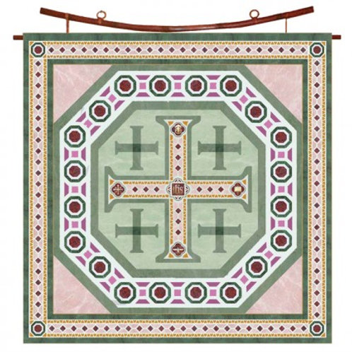 Jerusalem Cross Silk Square