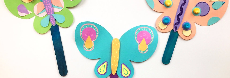 Toddler Time: Butterfly Puppets & Animal Masks