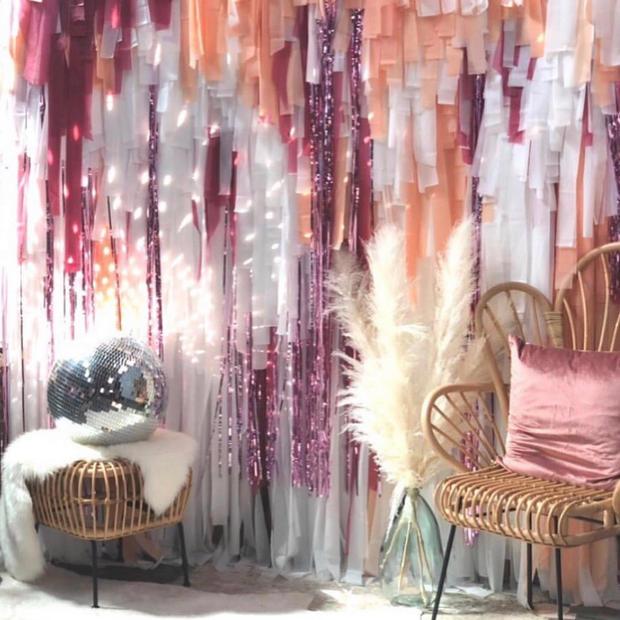 Pink Fringe Backdrop