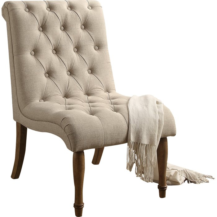 Beige Slipper Chair