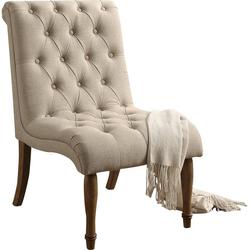 Beige Slipper Chair