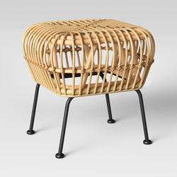 Modern Bamboo Ottoman