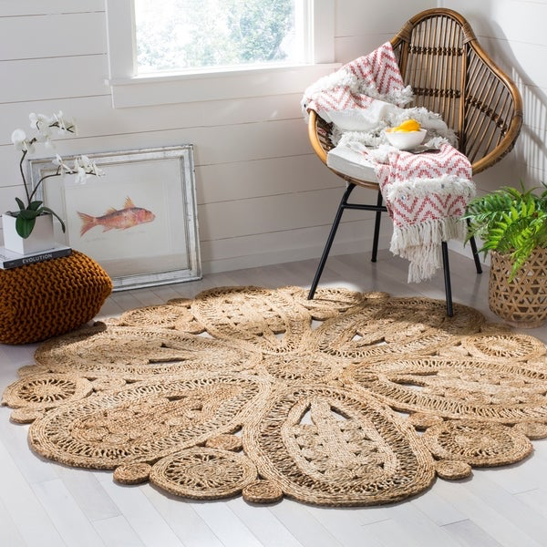 Flower Shaped Jute Rug