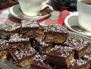 Granny's Famous Chocolate Fudge Slice. Deliciously easy. *Gluten free option also!