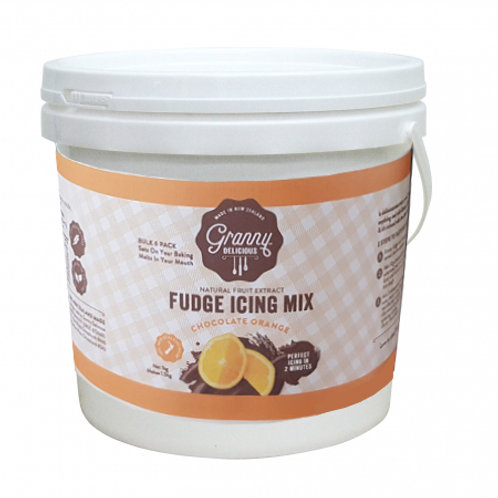 Fudge Icing Mix Chocolate Orange Bulk 1.1kg