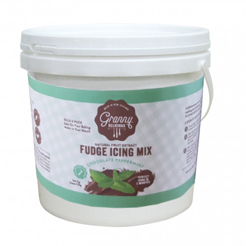 Fudge Icing Mix Chocolate Peppermint Bulk 1.1kg