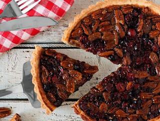Pecan & Cranberry Autumn Pie