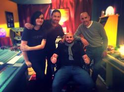 Band at prism recording studio