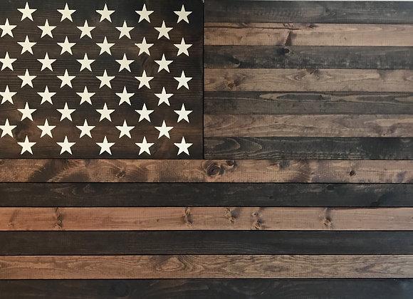 American Flag Concealed Rifle/Gun Wall Decor