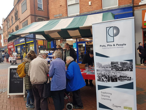 Community Market stall, sharing memories