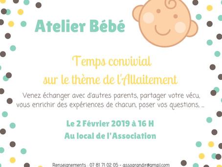 Atelier Bébé sur le thème de l'Allaitement