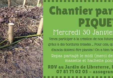 """Chantier """"Piquets"""" au Jardin"""