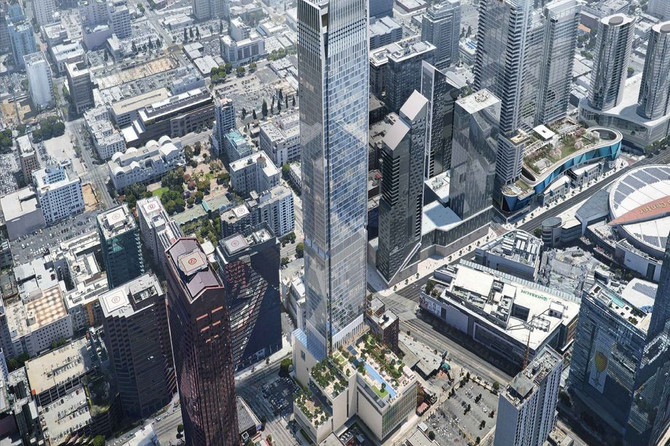 66-story Downtown LA tower plans to open in 2023