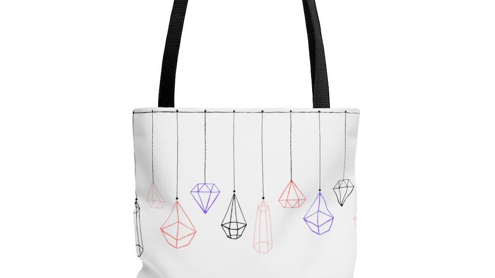 Simplistic Crystals Tote Bag