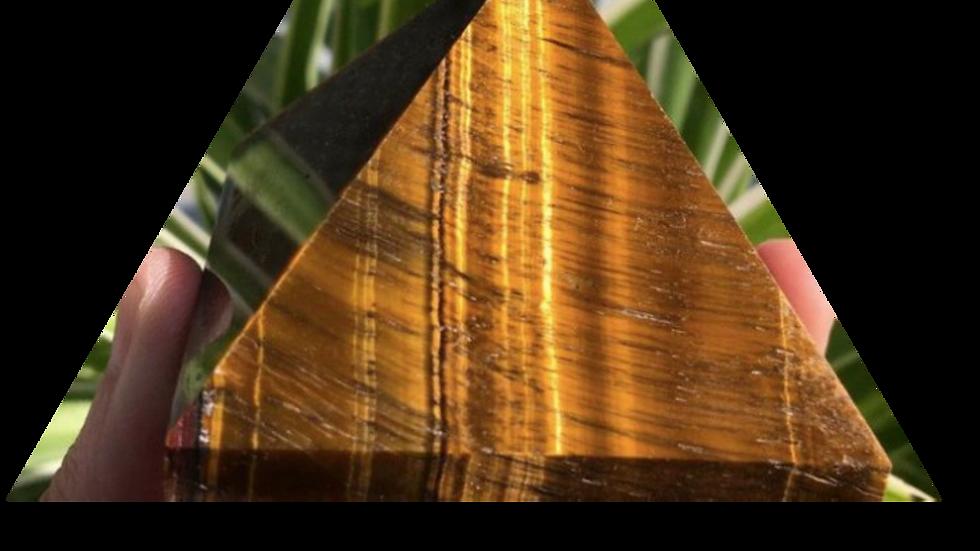 Tiger's Eye Pyramid (small)