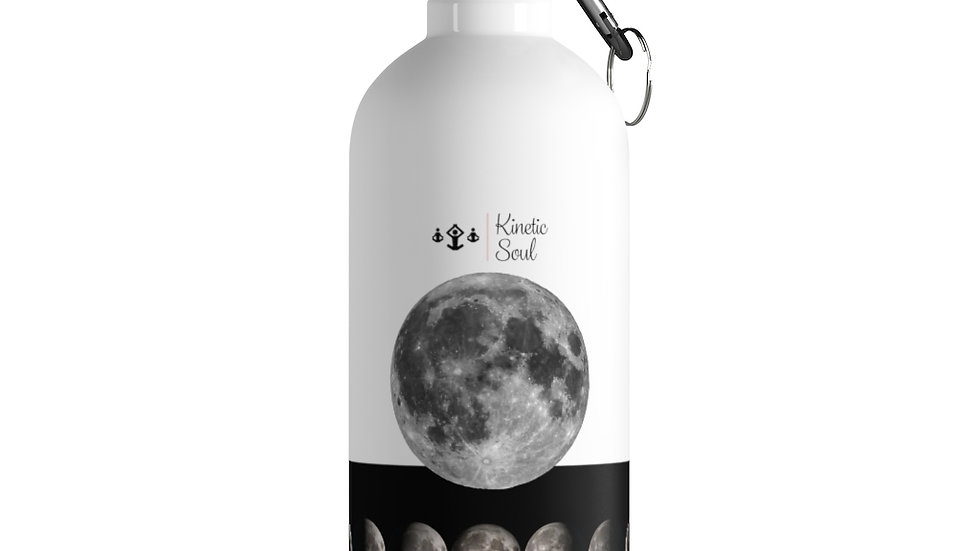 Stainless Steel Water Bottle x Moon phases