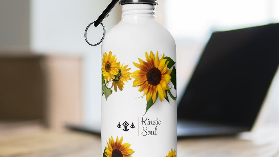 Stainless Steel Sunflower Water Bottle