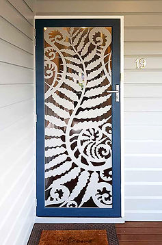 Fern Flow | Decoview Laser Cut Screen | Chalmers Security Installations