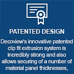 Patented Design | Features | Decoview Decorative Security Screens | Chalmers Security