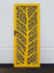 Leaf Vein | DECOVIEW Security Doors | Decorative Laser Cut & Perforated Screens | Chalmers Security Installations | Brisbane