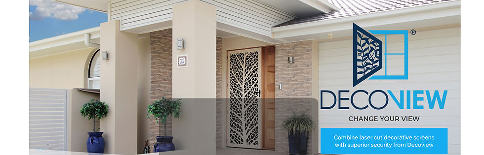 DECOVIEW | Decorative Laser Cut Security Screens | Chalmers Security Installations | Brisbane Installer