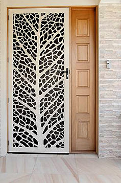 Leaf Vein | Decoview Laser Cut Screen | Chalmers Security Installations
