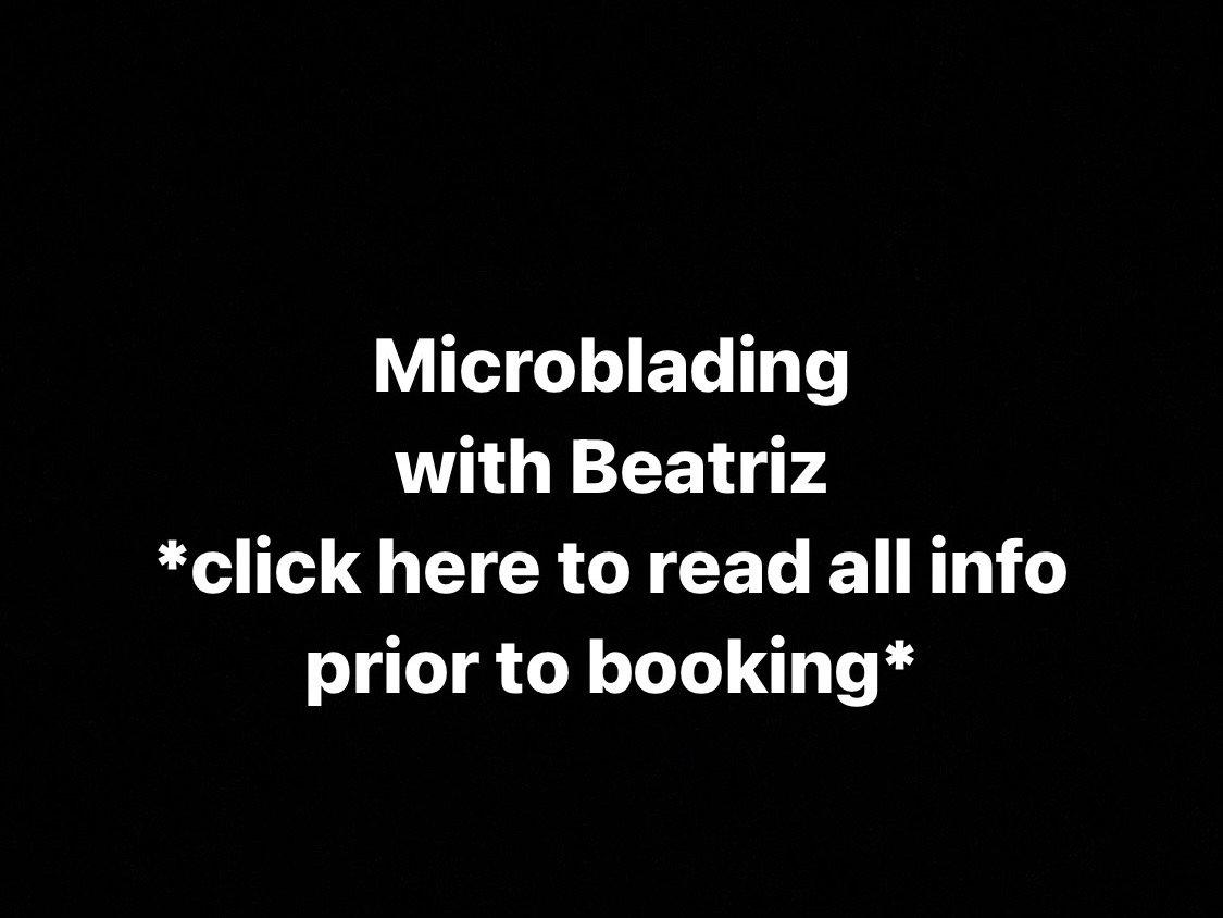 Microblading with Beatriz