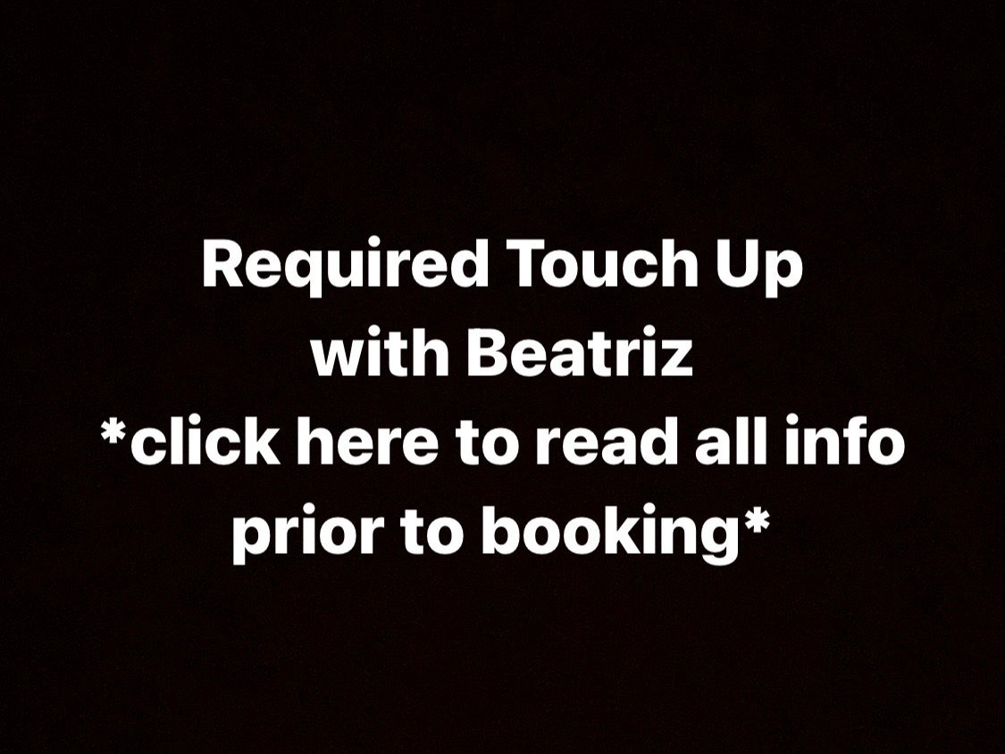 Required Touch Up with Beatriz
