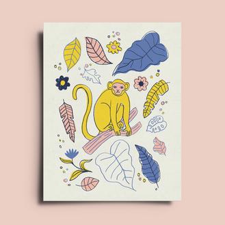 Monkey Three Square © Elisa MacDougall