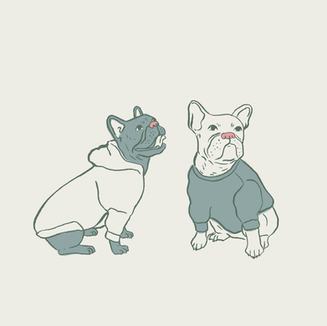 Frenchies in Green