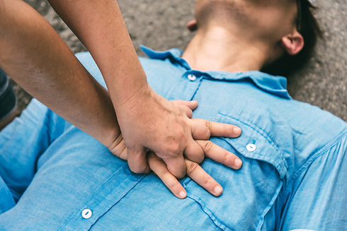 First Aids Emergency CPR on Heart Attack