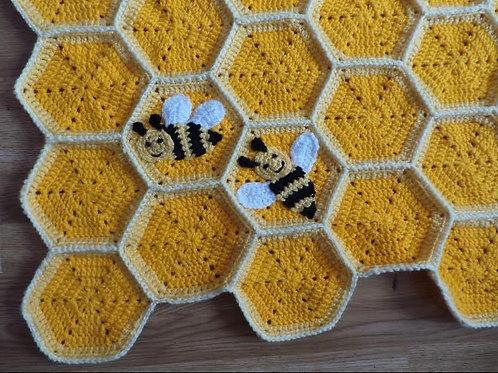 Honey comb Honey Bee Blanket