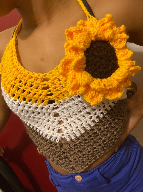 Sunflower Vibes Laced Top