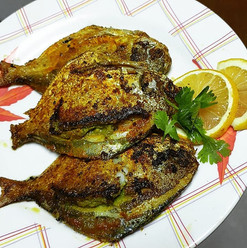 Pomfret with Green Masala