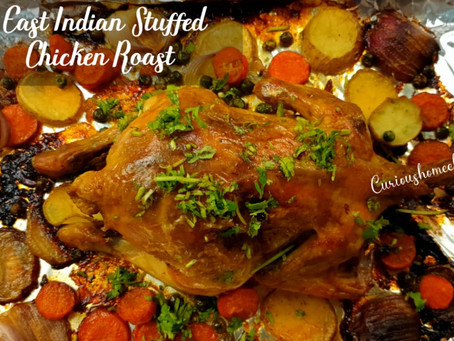 East Indian Stuffed Chicken Roast