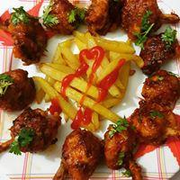 Chicken Lollipop with fries