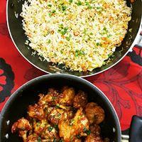 Chicken Fried Rice & Masala Lollipops