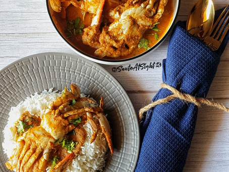 East Indian Crab Curry with Bottle Masala
