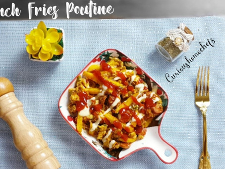 French Fries Poutine with an Indian Twist